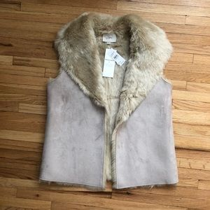 Reversible faux fur vest by LOFT